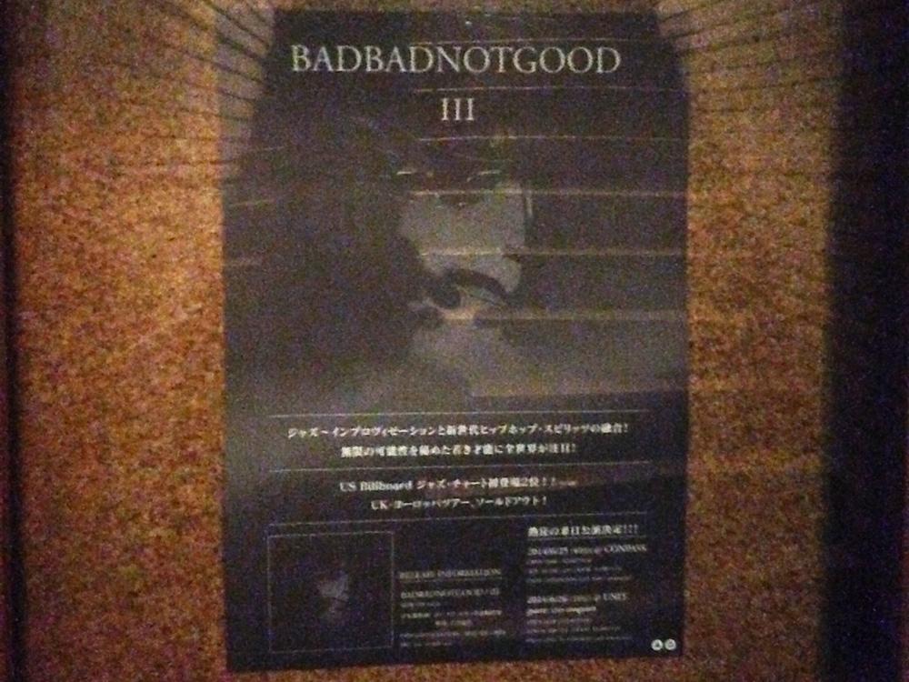 BADBADNOTGOOD Japan Tourのポスター