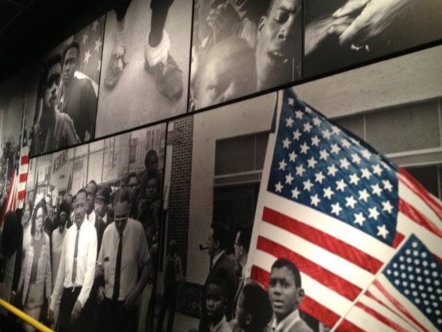 メンフィス国立公民権博物館の展示