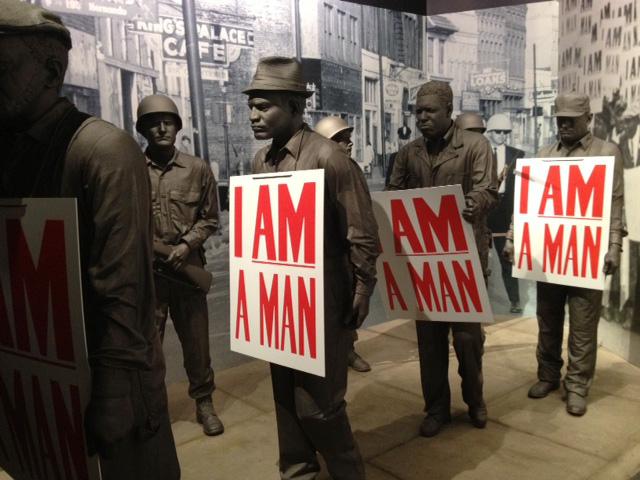 メンフィス国立公民権博物館の黒人差別反対運動