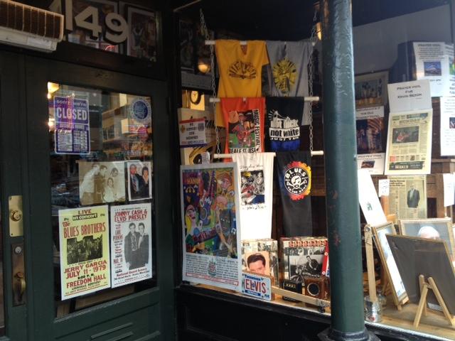 BEALE STREETのミュージックショップ