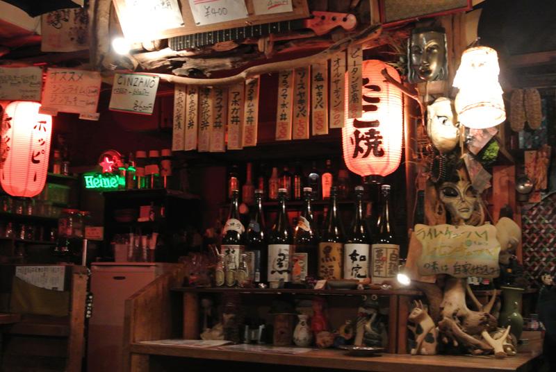 京都ネガポジのバーカウンター