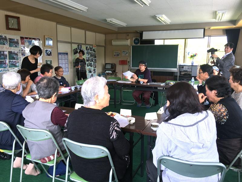 2016年4月に行われた犬島音頭ワークショップの模様